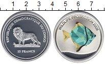 Монета Конго 10 франков Серебро 2005 Proof фото