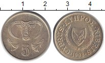 Изображение Дешевые монеты Кипр 5 центов 1998 Бронза XF