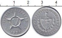 Изображение Дешевые монеты Куба 5 сентаво 1971 Алюминий VF+