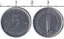 Изображение Барахолка Франция 5 сантим 1961 Сталь XF