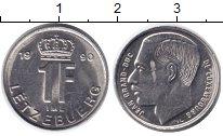 Изображение Дешевые монеты Люксембург 1 франк 1990 Никель XF-