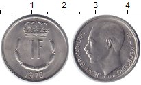 Изображение Дешевые монеты Люксембург 1 франк 1970 Медно-никель XF