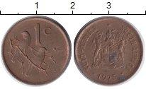 Изображение Дешевые монеты ЮАР 1 цент 1975 Бронза XF