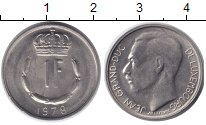 Изображение Дешевые монеты Люксембург 1 франк 1978 Медно-никель XF