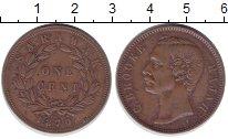 Монета Саравак 1 цент Медь 1870 XF