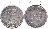 Изображение Монеты Нидерланды 1/2 гульдена 1860 Серебро VF