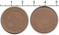 Изображение Монеты Нидерланды Антильские острова 1 гульден 1993 Медно-никель XF