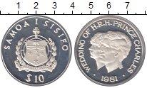 Изображение Монеты Самоа 10 долларов 1981 Серебро Proof