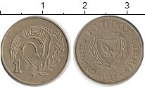 Изображение Дешевые монеты Кипр 1 цент 1985 Бронза XF