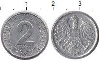Изображение Дешевые монеты Австрия 2 гроша 1954 Алюминий XF-