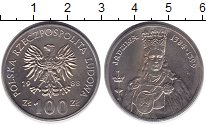 Изображение Монеты Польша 100 злотых 1988 Медно-никель UNC Королева  Ядвига.