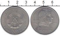 Изображение Монеты ГДР 20 марок 1972 Медно-никель XF Фридрих  Шиллер.