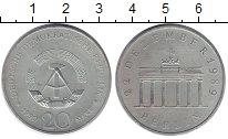Изображение Монеты ГДР 20 марок 1990 Медно-никель XF