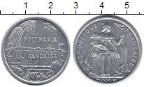 Изображение Монеты Полинезия 2 франка 1995 Алюминий UNC-