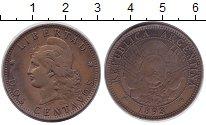 Изображение Монеты Аргентина 2 сентаво 1893 Медь XF