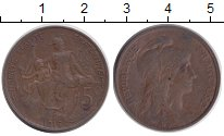 Изображение Монеты Франция 5 сентим 1916 Медь XF