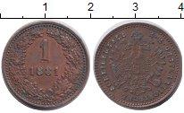 Изображение Монеты Австрия 1 геллер 1881 Медь XF