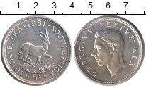 Изображение Монеты ЮАР 5 шиллингов 1951 Серебро XF Георг VI.