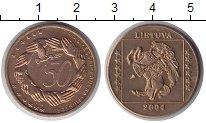 Литва 50 центов 2004 Латунь