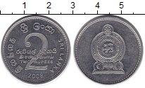Изображение Дешевые монеты Шри-Ланка 2 рупии 2008 Медно-никель XF