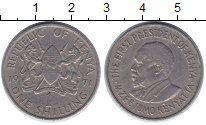 Изображение Дешевые монеты Кения 1 шиллинг 1971 Медно-никель VF+