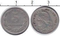 Изображение Монеты Аргентина 5 сентаво 1940 Медно-никель XF