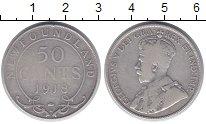 Изображение Монеты Ньюфаундленд 50 центов 1918 Серебро XF