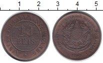 Изображение Монеты Бразилия 20 рейс 1893 Медь XF