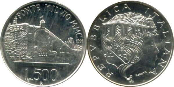 Картинка Подарочные наборы Италия 2.100 лет мосту Мильвио Серебро 1991
