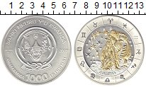 Изображение Монеты Руанда 1000 франков 2009 Серебро UNC-