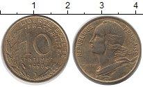 Изображение Дешевые монеты Франция 10 сантим 1998 Латунь-сталь