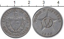 Изображение Дешевые монеты Куба 5 сентаво 1968 Алюминий XF-