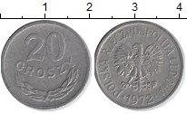 Изображение Барахолка Польша 20 грошей 1972 Медно-никель