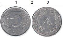 Изображение Барахолка ГДР 5 пфеннигов 1968 Алюминий XF