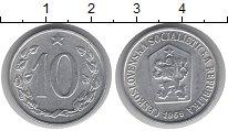 Изображение Дешевые монеты Чехословакия 10 хеллеров 1969 Алюминий XF+