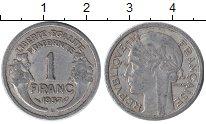 Изображение Дешевые монеты Франция 1 франк 1957 Алюминий