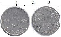 Изображение Дешевые монеты Финляндия 5 пенни 1982 Алюминий