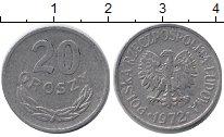 Изображение Барахолка Польша 20 грошей 1972 Алюминий XF