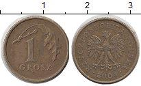Изображение Дешевые монеты Польша 1 грош 2004 Латунь XF