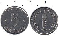 Изображение Барахолка Франция 5 сантимов 1962 Медно-никель XF