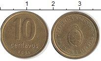Изображение Дешевые монеты Аргентина 10 сентаво 2004 Латунь XF