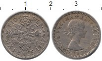 Изображение Барахолка Великобритания 6 пенсов 1957 Медно-никель XF