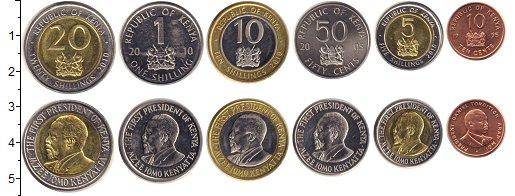 Изображение Наборы монет Кения набор монет 1995 Медно-никель  В наборе 6 монет ном
