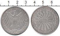 Изображение Монеты ФРГ 10 марок 1972 Серебро UNC Олимпиада  1972. Мюн