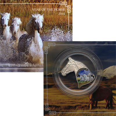 Изображение Монеты Ниуэ 1 доллар 2014 Серебро Proof Монета номиналом 1 д
