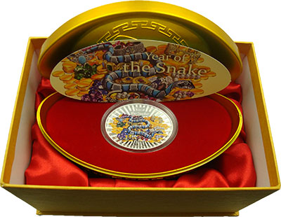 Изображение Подарочные монеты Ниуэ Год Змеи 2013 Серебро Proof Монета номиналом 2 д