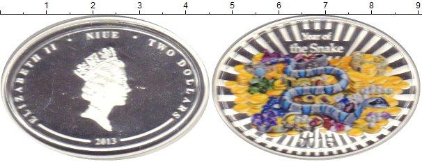 Картинка Подарочные монеты Ниуэ Год Змеи Серебро 2013