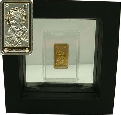 Изображение Подарочные монеты Беларусь Икона Божией Матери 2012 Золото Proof Монета номиналом 50