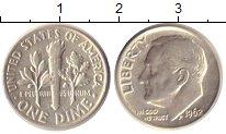 Изображение Монеты США 1 дайм 1962 Серебро XF