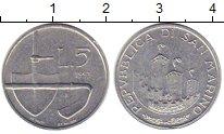 Изображение Монеты Сан-Марино 5 лир 1993 Алюминий XF